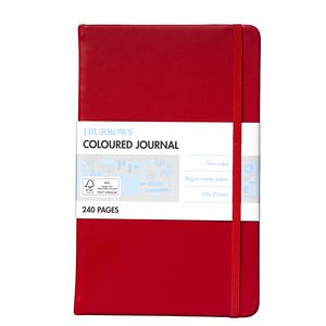 J.Burrows Medium Coloured Journal Red