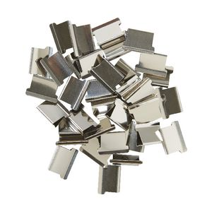J.Burrows Slide Clips Refills Medium Silver 70 Pack