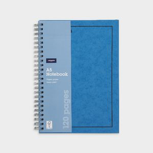 J.Burrows A5 Hard Cover Pressboard Notebook Blue