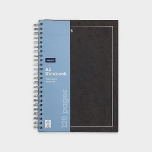 J.Burrows A5 Hard Cover Pressboard Notebook Black