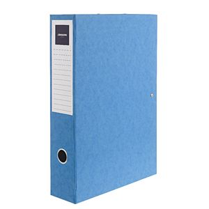 J.Burrows Foolscap Pressboard Box File Blue