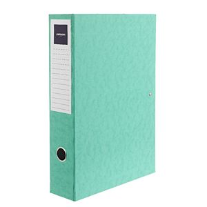 J.Burrows Foolscap Pressboard Box File Green