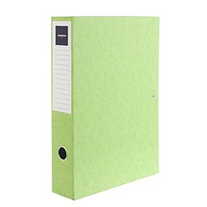 J.Burrows Foolscap Pressboard Box File Lime