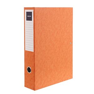 J.Burrows Foolscap Pressboard Box File Orange