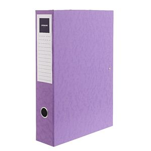 J.Burrows Foolscap Pressboard Box File Purple