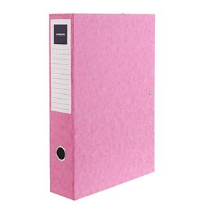 J.Burrows Foolscap Pressboard Box File Pink