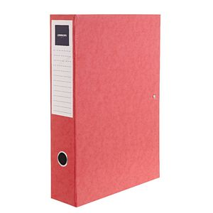 J.Burrows Foolscap Pressboard Box File Red