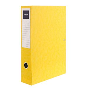 J.Burrows Foolscap Pressboard Box File Yellow