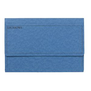 J.Burrows Foolscap Document Wallet Blue