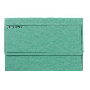 J.Burrows Foolscap Document Wallet Green