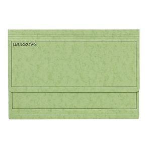 J.Burrows Foolscap Document Wallet Lime