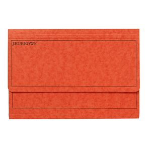 J.Burrows Foolscap Document Wallet Orange