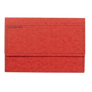 J.Burrows Foolscap Document Wallet Red