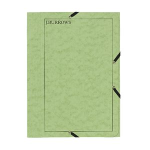 J.Burrows A4 Pressboard Elastic File Lime
