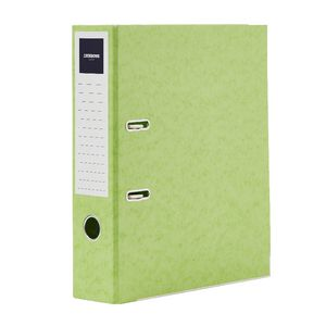 J.Burrows Pressboard Lever Arch File A4 2 Ring Lime