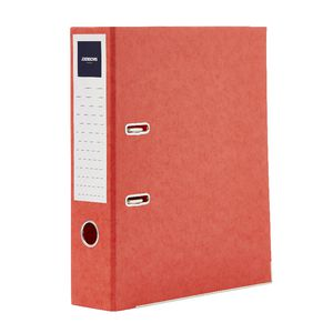 J.Burrows Pressboard Lever Arch File A4 2 Ring Red