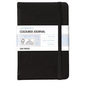 J.Burrows Pocket Coloured Journal Black