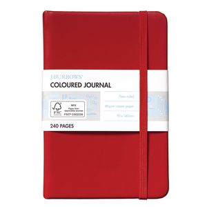 J.Burrows Pocket Coloured Journal 240 Page Red