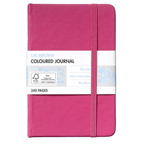 J.Burrows Pocket Coloured Journal 240 Page Pink