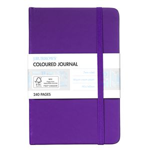J.Burrows Pocket Coloured Journal 240 Page Purple