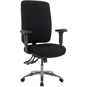 Professional Ergonomic Extra-Heavy-Duty Fabric Chair Black | Tuggl