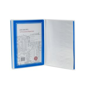 J.Burrows Presentation Display Book A4 20 Pocket Fixed Blue