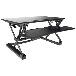 sit stand desk 890mm black