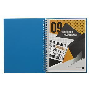 J.Burrows Display Book A4 20 Pocket Refillable Blue