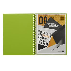 J.Burrows Display Book A4 20 Pocket Refillable Green