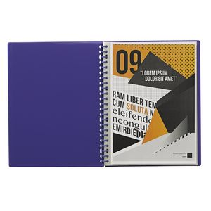 J.Burrows Display Book A4 20 Pocket Refillable Purple