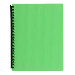J.Burrows Display Book A4 20 Pocket Refillable Embossed Lime