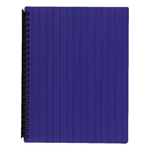 J.Burrows Display Book A4 20 Pocket Refillable Emboss Purple