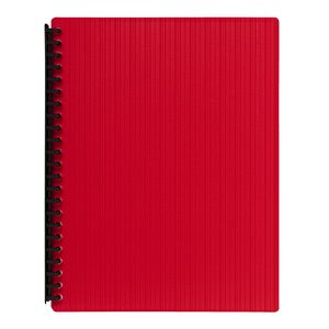 J.Burrows Display Book A4 20 Pocket Refillable Embossed Red
