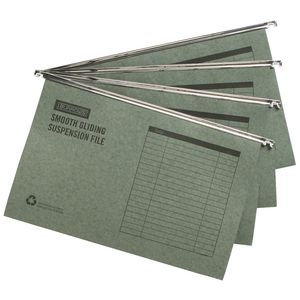 J.Burrows Suspension File Foolscap Green 100 Pack