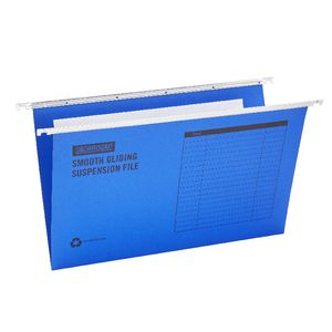 J.Burrows Suspension File Foolscap Blue 10 Pack