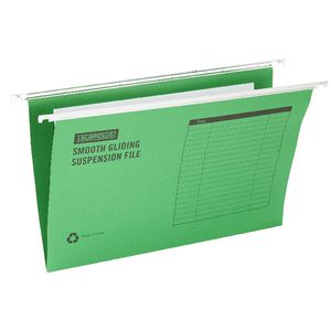 J.Burrows Suspension File Foolscap Bright Green 10 Pack
