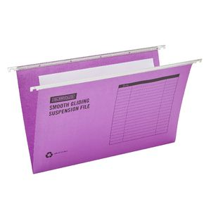 J.Burrows Suspension File Foolscap Purple 10 Pack