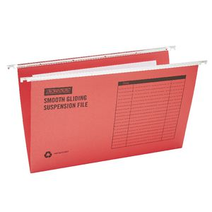 J.Burrows Suspension File Foolscap Red 10 Pack
