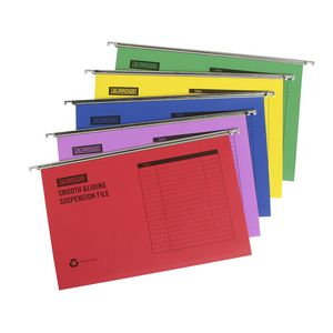 J.Burrows Suspension Files Foolscap Assorted 25 Pack