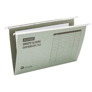 J.Burrows Suspension File Foolscap Green 50 Pack