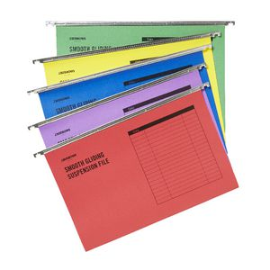 J.Burrows Suspension File Foolscap Assorted 50 Pack