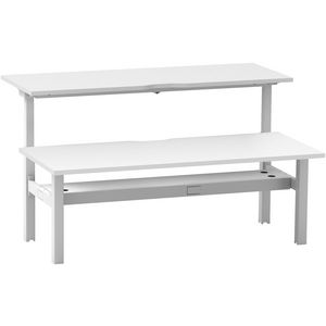 Stilford Electric Adjustable Back to Back Desk 1800mm White