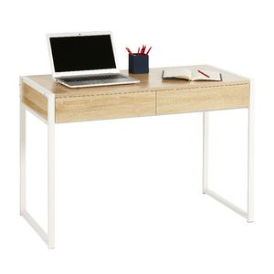 Sheffield 2 Drawer Desk White Oak Officeworks