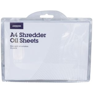 J.Burrows Shredder Oil Sheets 12 Pack | Tuggl
