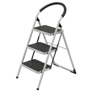 Folding Step Ladder Stool Aluminum Platform Drywall Step