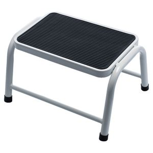 J Burrows 1 Step Metal Stool 120kg White