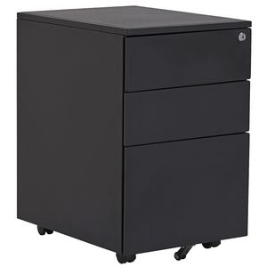 Stilford 3 Drawer Mobile Pedestal Black