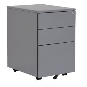 Stilford 3 Drawer Mobile Pedestal Silver