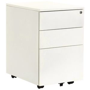Stilford 3 Drawer Mobile Pedestal White
