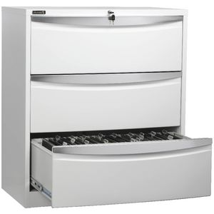 Stilford 3 Drawer Lateral Filing Cabinet White